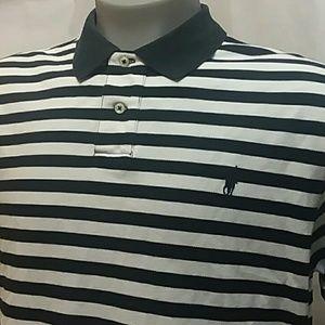 Polo Ralph Lauren Black Striped Knit Polo Shirt